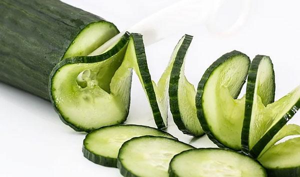 hoeveel vezels komkommer